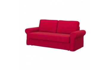 BACKABRO Pokrycie sofy 3-osobowej rozkładanej, Senses Red